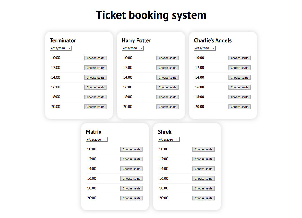 Tickets booking